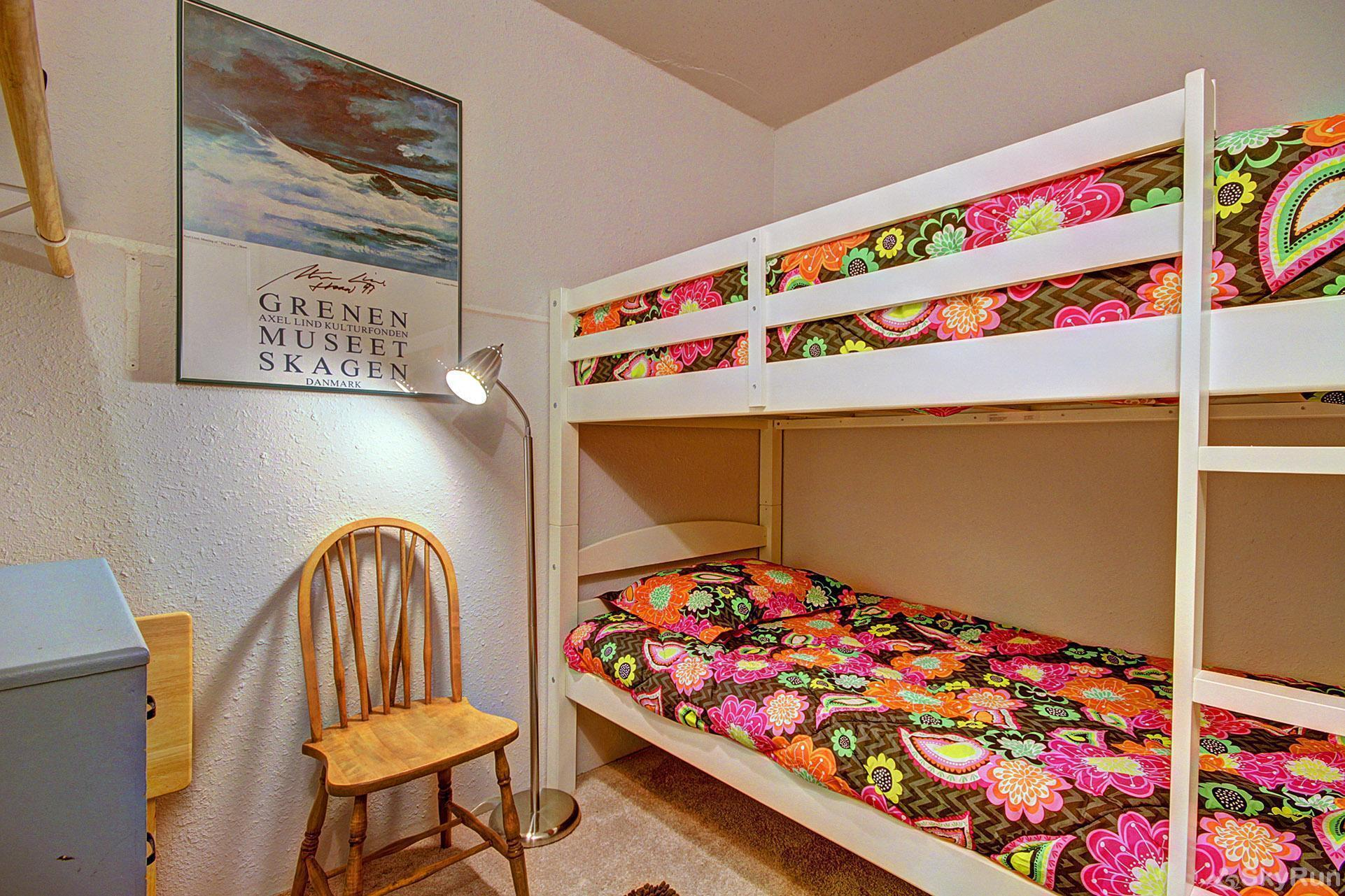 Alpenrose 303 Bedroom with twin bunk beds