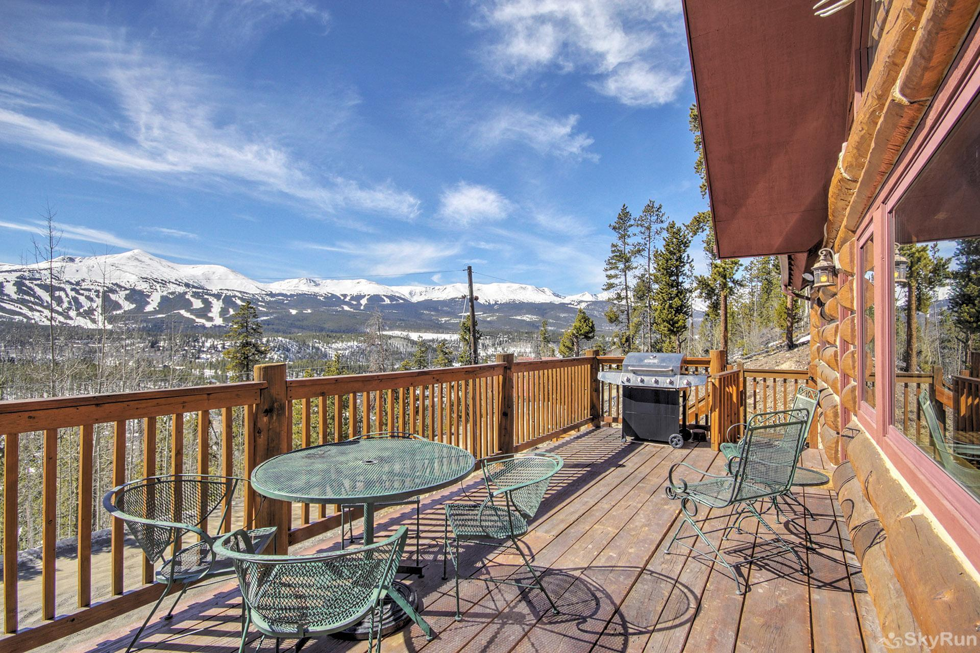 Barton Cabin Deck looking at Breckenridge Mountain