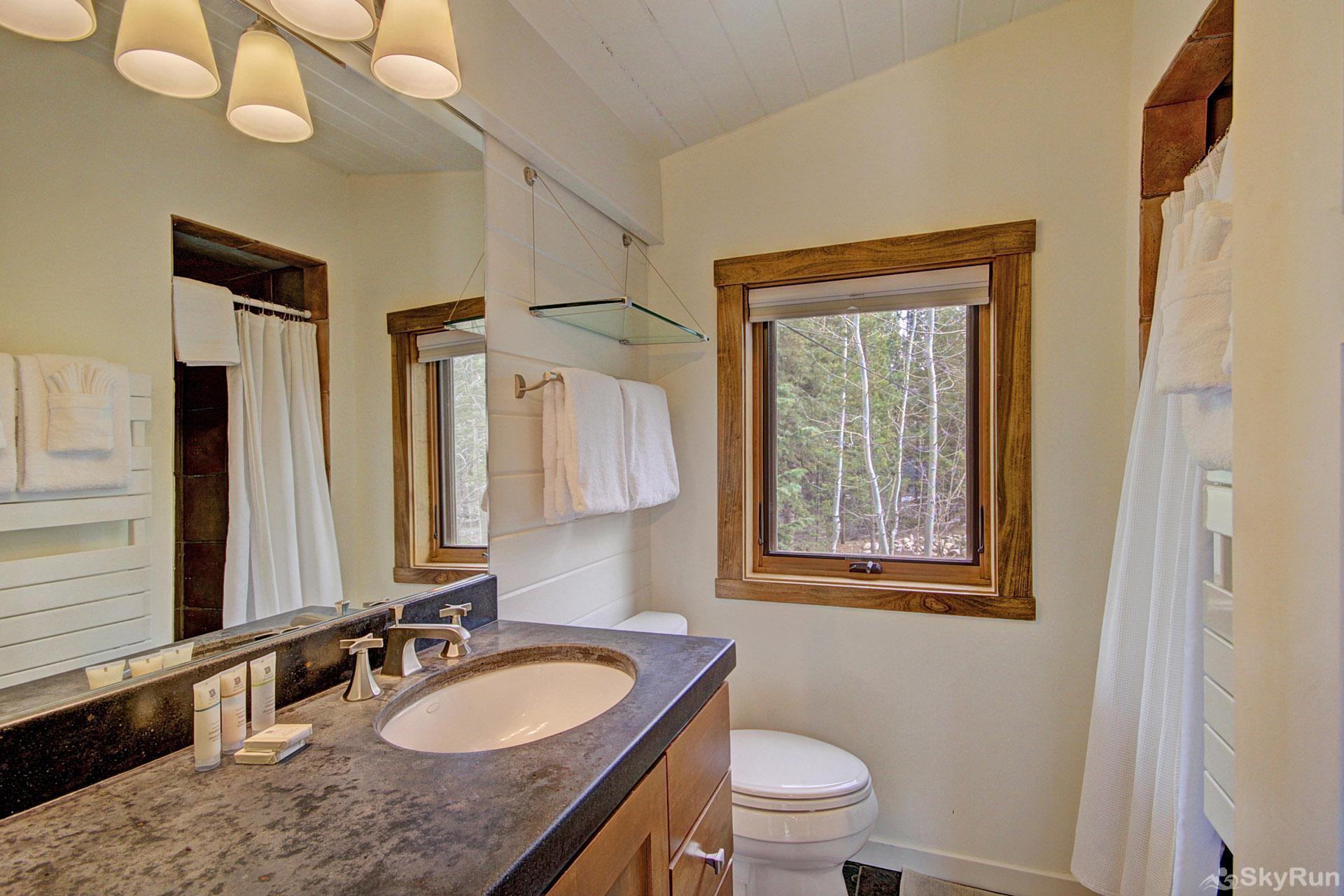 Elk Horn Cabin Recently updated main level hall bath