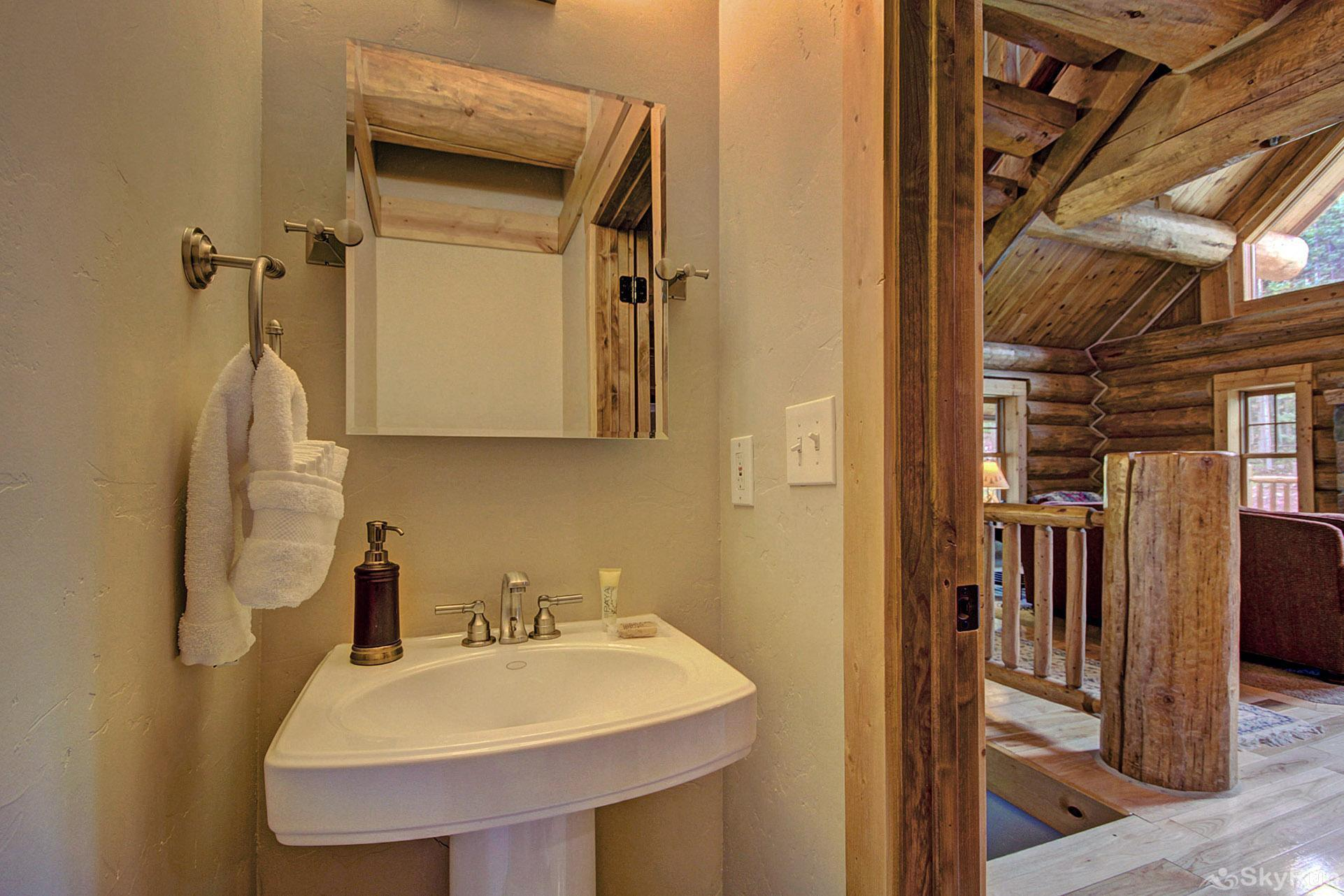 Timber Ridge Lodge Half bathroom on the main level