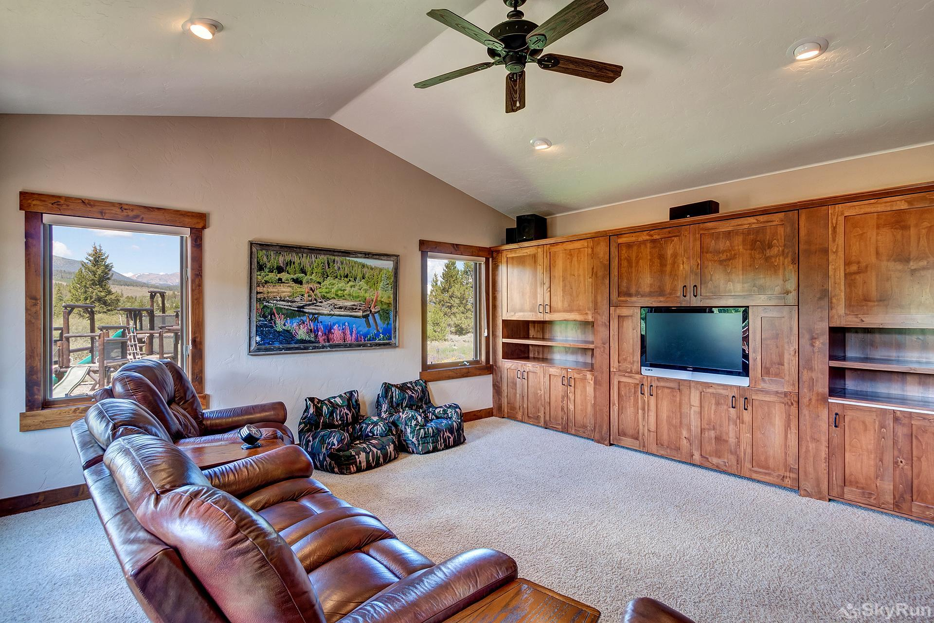 Swan River Retreat Home theater area, perfect for enjoying movies or sports events with the family