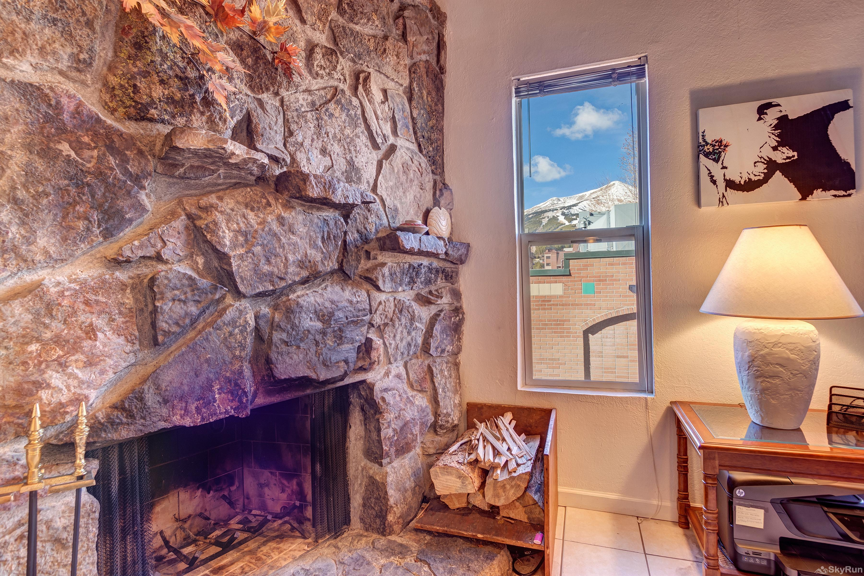 Alpine 203 Stay warm and cozy with the wood burning fireplace