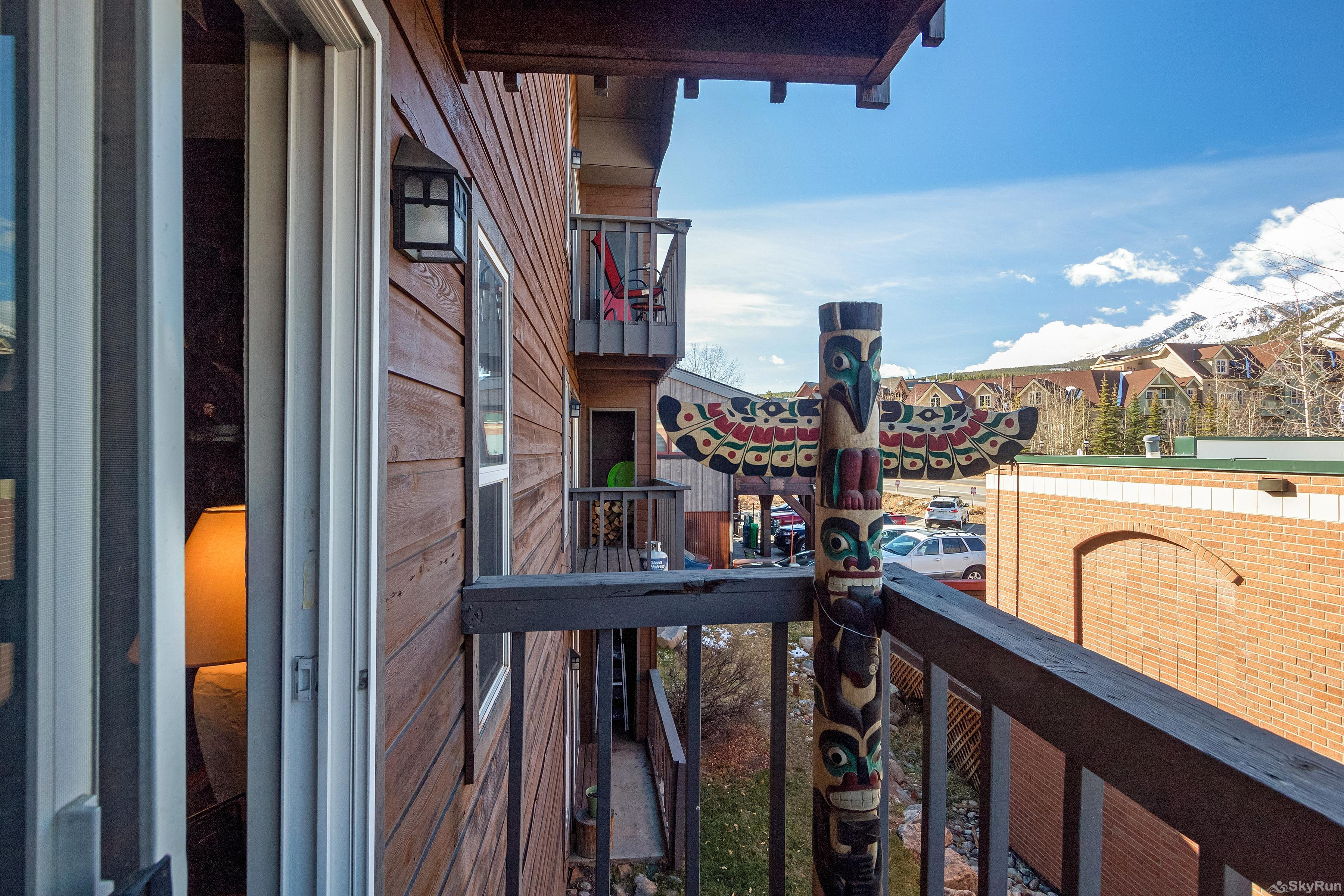 Alpine 203 Porch balcony overlooking Breckenridge