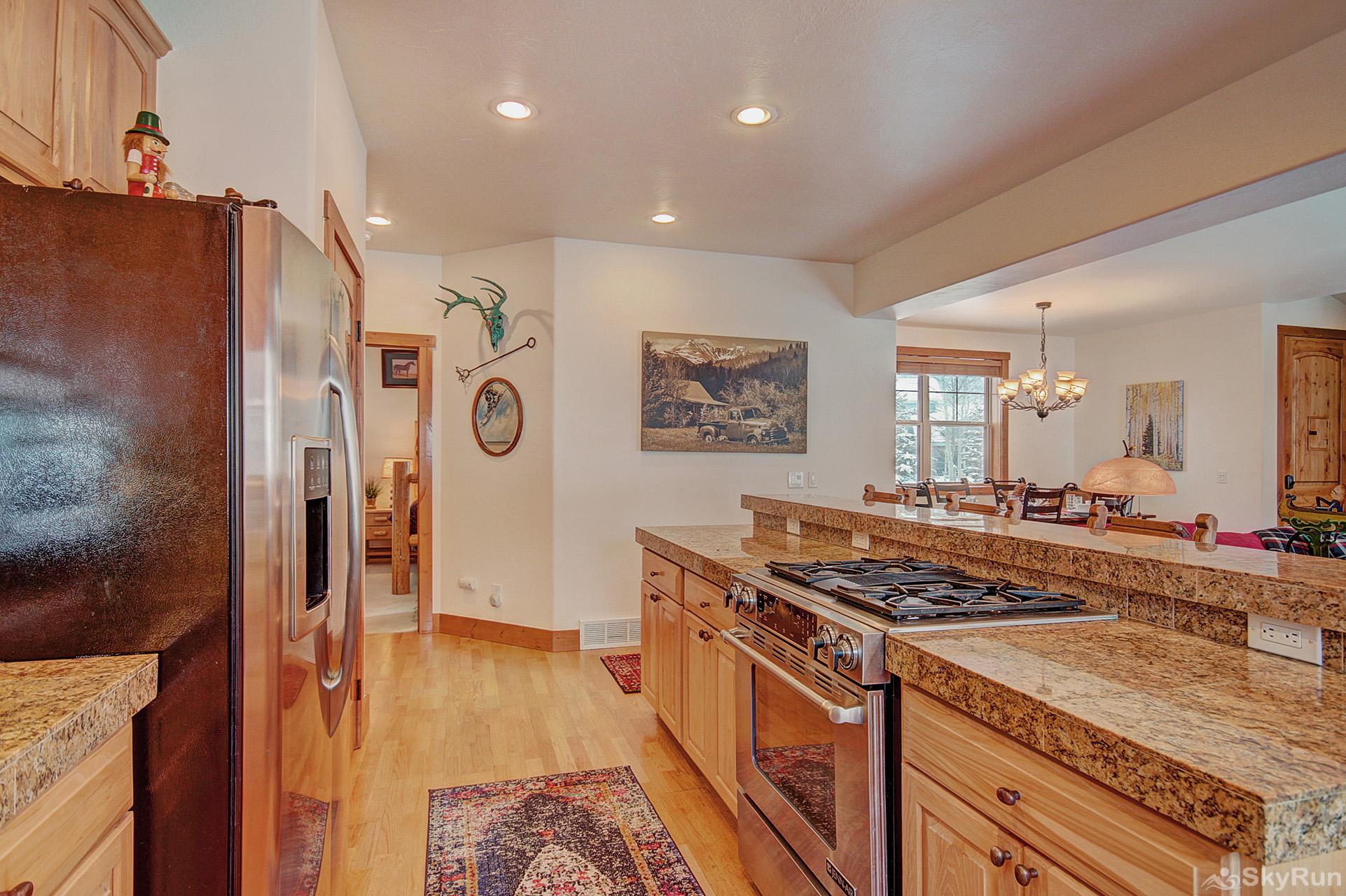 Summit Vista Retreat Fully equipped kitchen updated with stainless steel appliances