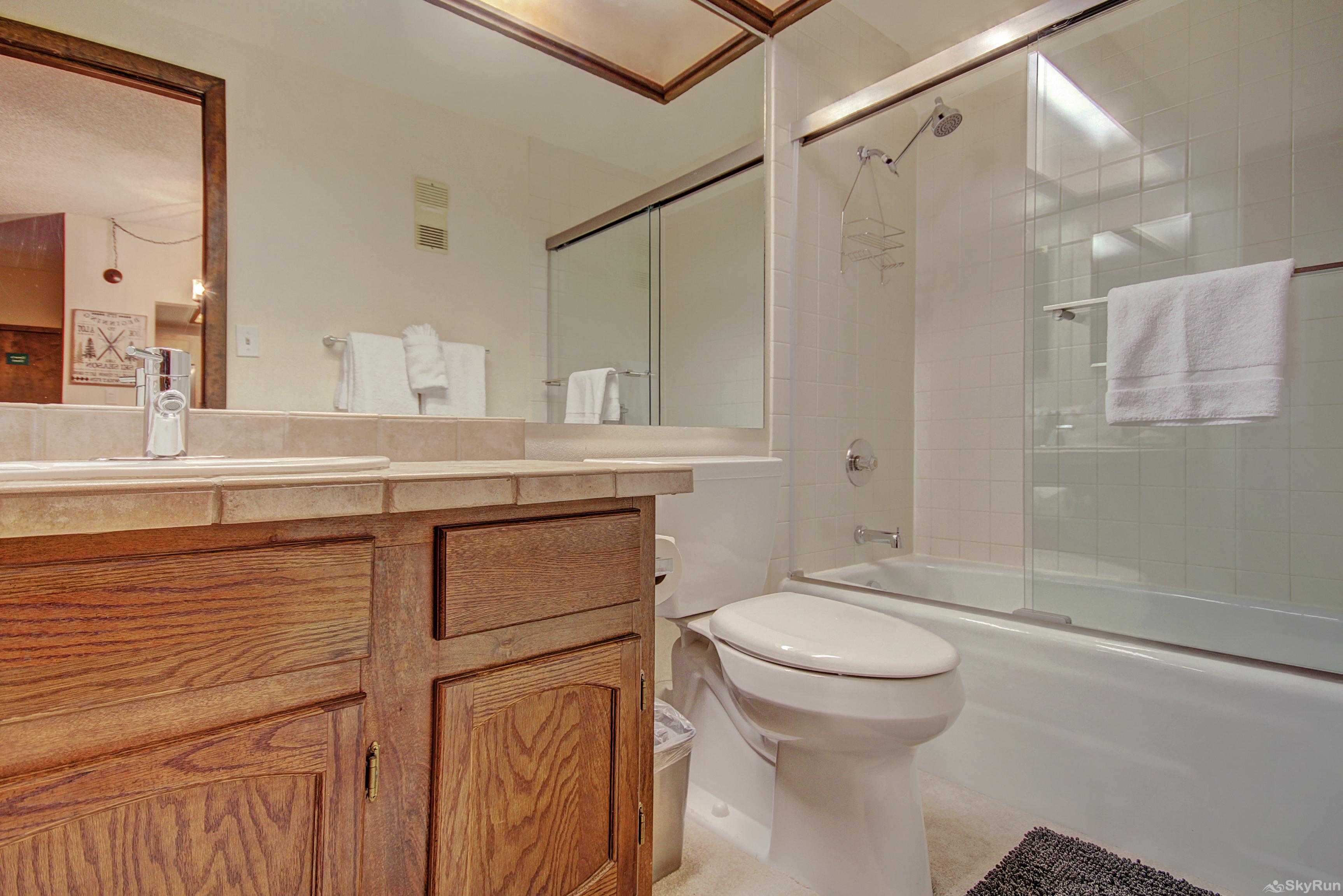 Village at Breck Antero 1503 Second full bathroom with shower/tub combo