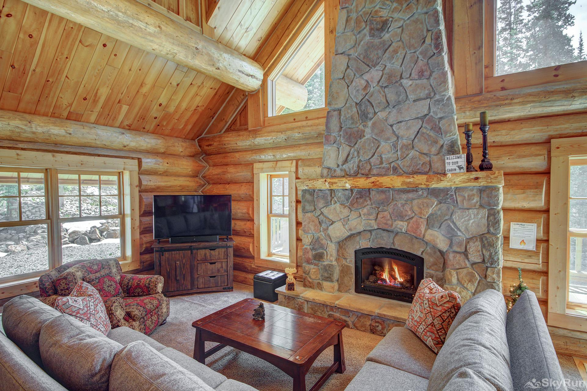 Timber Ridge Lodge Stay cozy warm by the gas fireplace on those cold winter nights