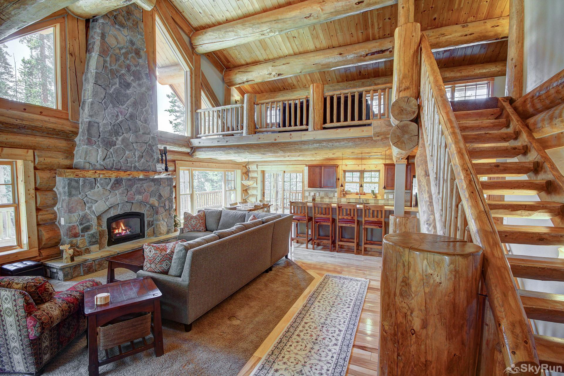 Timber Ridge Lodge Open floor plan with lofted ceilings and large windows!