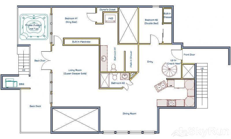 Porcupine Peak Main Level Floor Plan