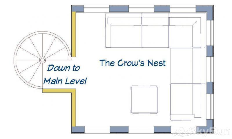 Porcupine Peak Crow's Nest Floor Plan