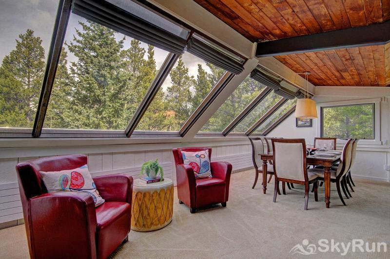 Elk Horn Cabin Large windows in the living area provide great views and natural light