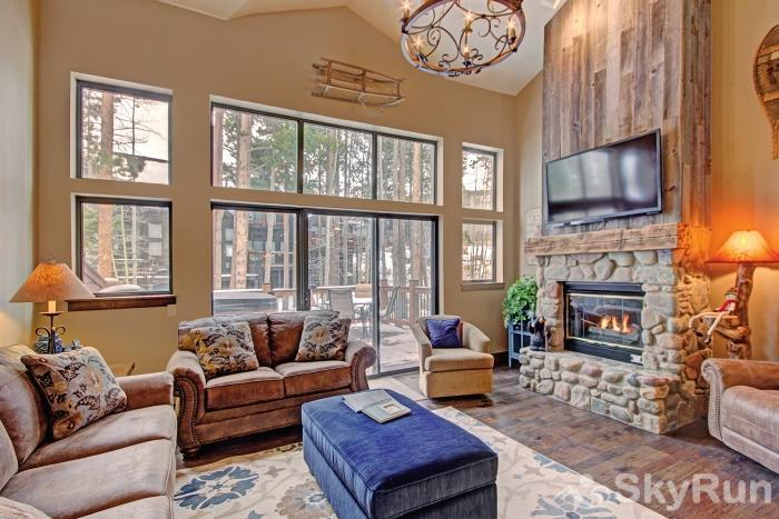 Village Point 109 Cozy up by your gas fireplace while enjoying a movie on the flat screen TV