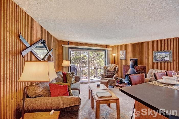 Gold Camp J138 Large sliding glass doors open up from the living room to your private porch