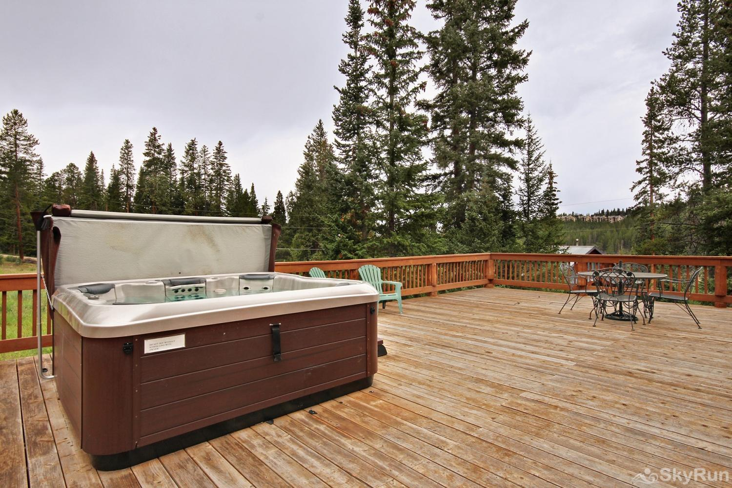 The Sly Fox Hideaway Soak your achy muscles in your private hot tub