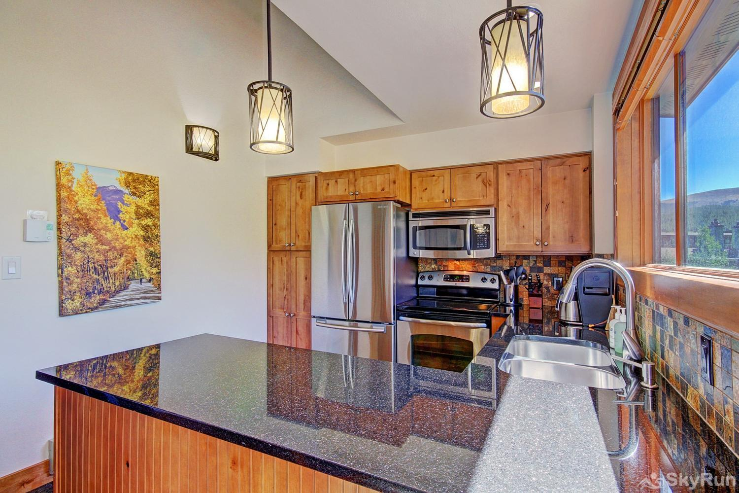 Ski Hill 8 Updated kitchen with stainless steel appliances