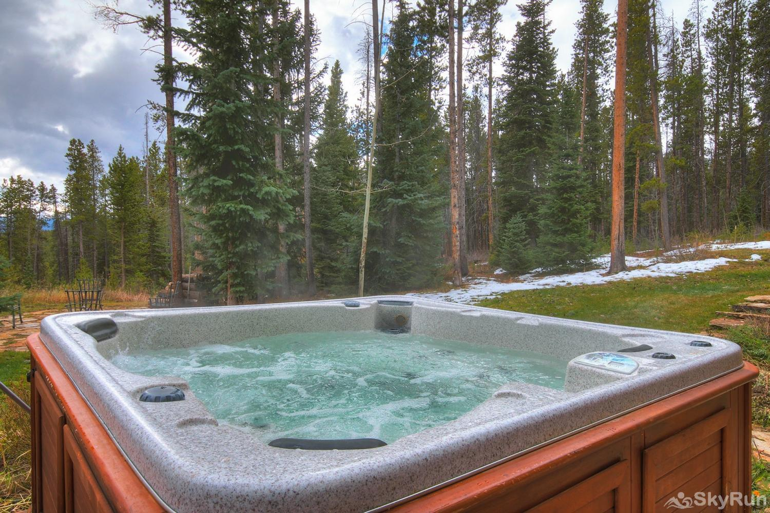 Secret Trail Lodge Soak in the hot tub after a day of fun adventures!