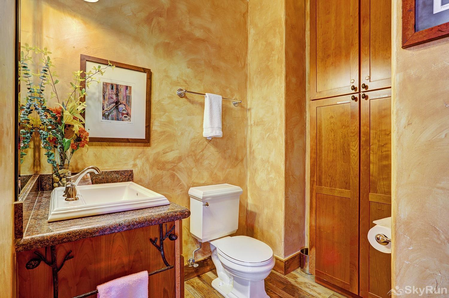 Mountain Ridge Chalet Main level half bath