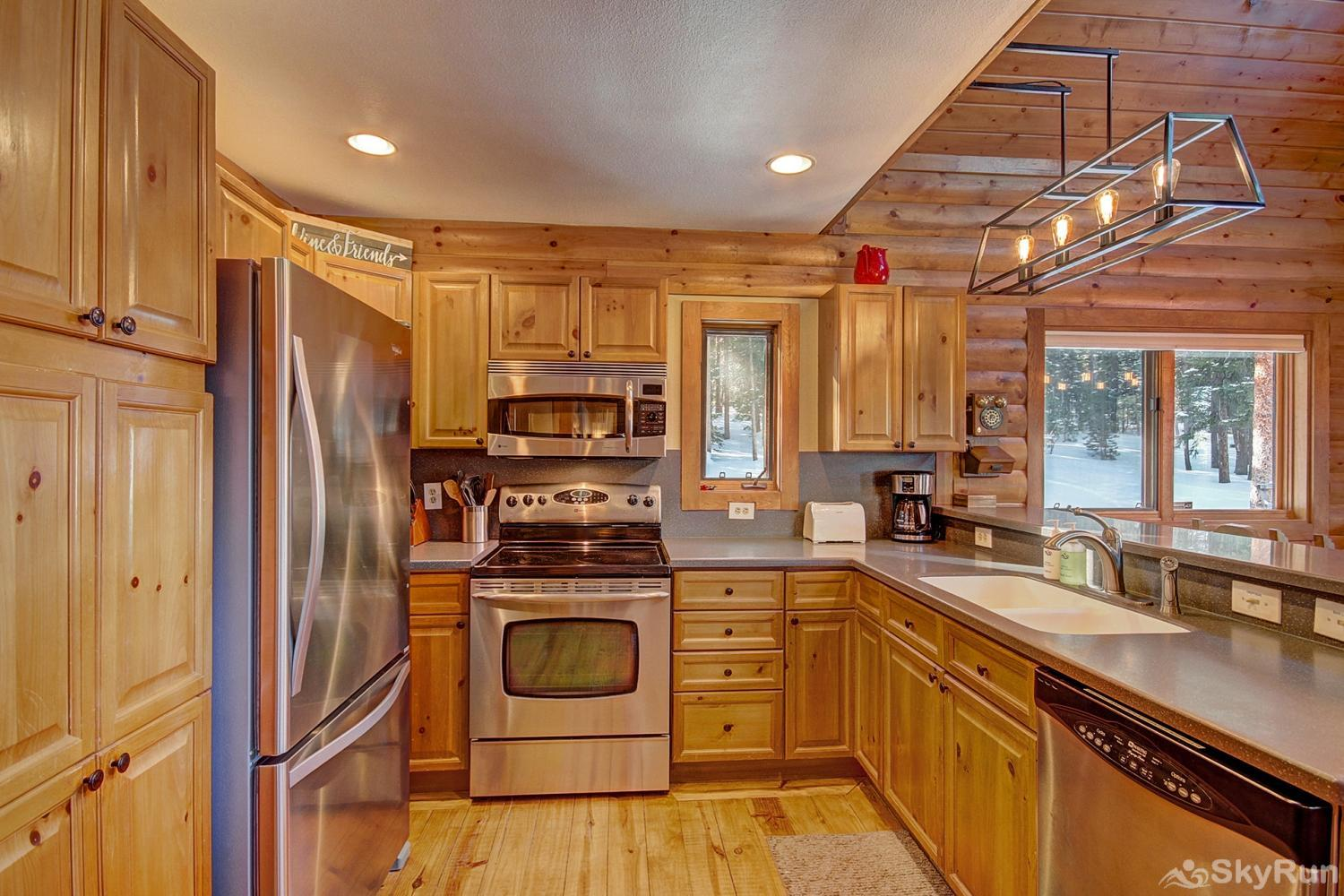 The Sly Fox Hideaway Fully equipped kitchen updated with modern appliances