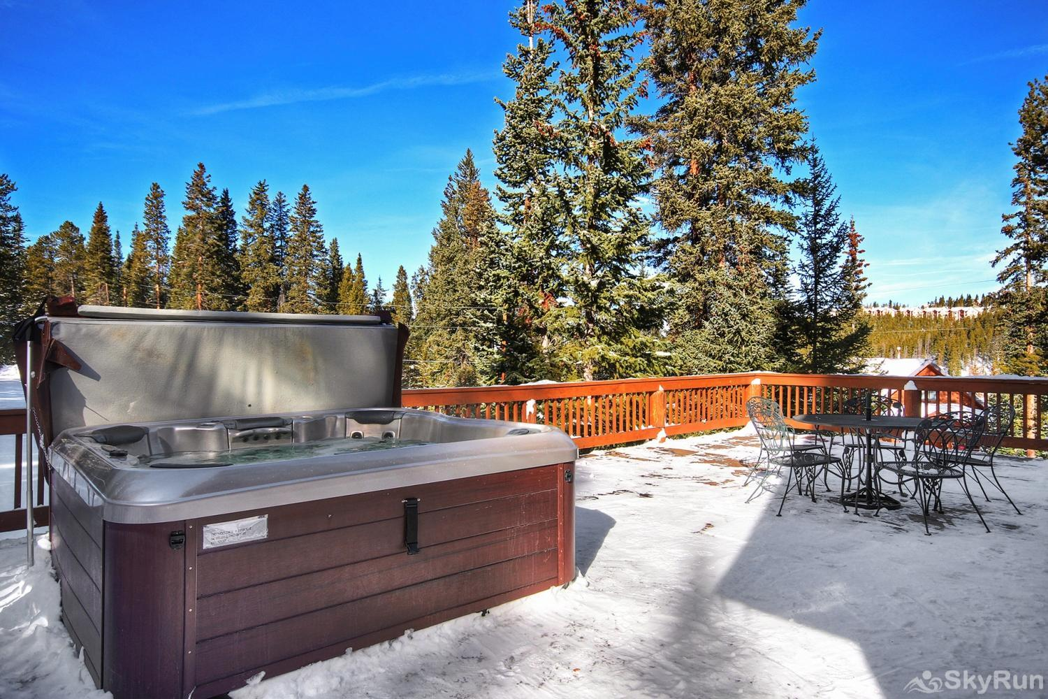 The Sly Fox Hideaway Stay warm in your private hot tub