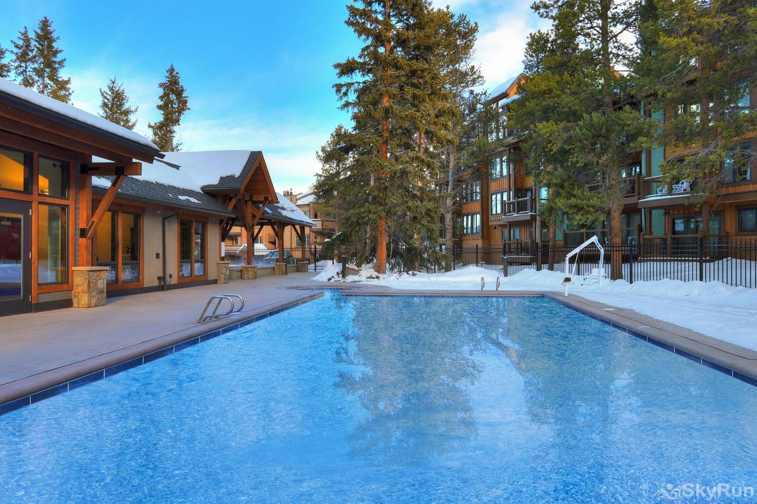The Lift C112 Columbine Pool Complex outdoor heated pool