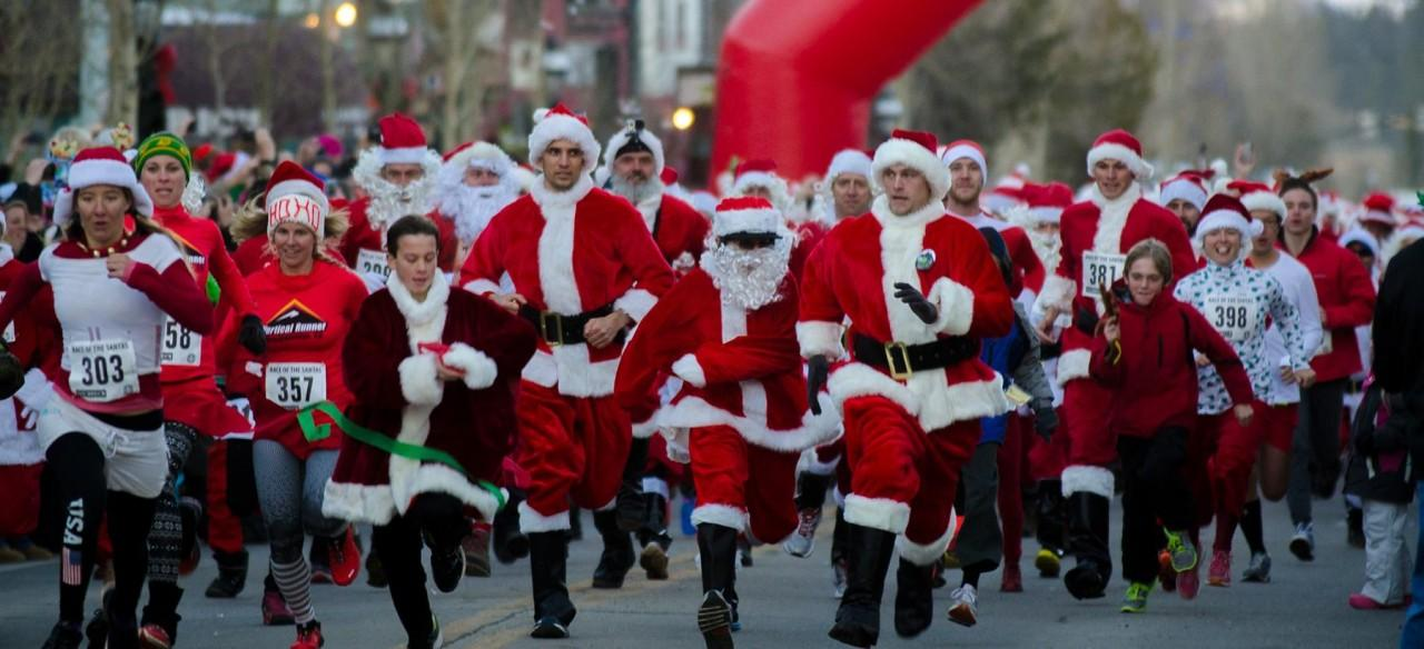 Hundreds Of Santas Fill The Streets To Ring In The Holiday Season