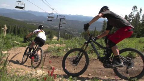 Top three easy mountain biking trails near Breckenridge